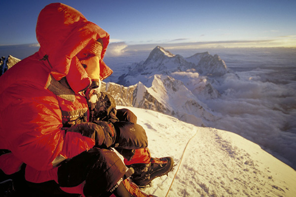 Oxygen is required for most above 8,000 metre